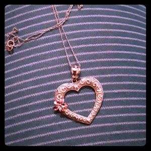 10K Heart Necklace